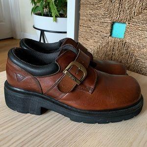 90s Made in England Dr Martens Sz 5 Brown Vintage